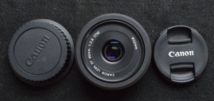 jual lensa fix pancake 40mm canon f 2.8 second